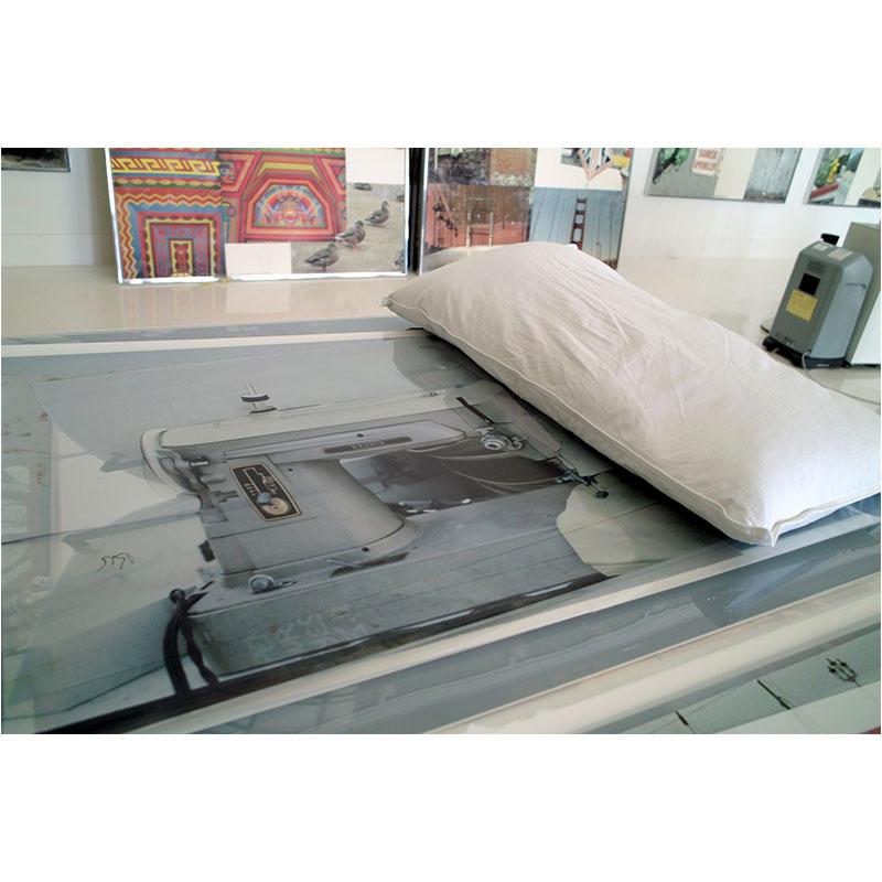 "Bob Rauschenberg's studio IV , 2008 pigment inkjet print 12 x 18"" image 20 x 26"" framed  Inquire >"