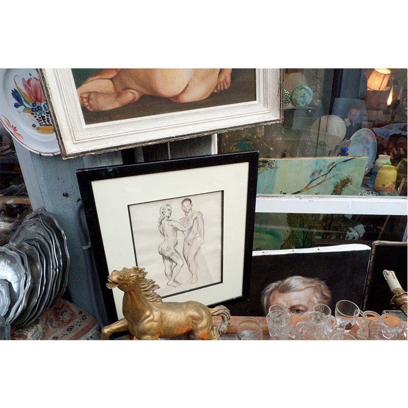"Paris Flea Market XV , 2008 digital c-print 24 x 36"" image 32.25 x 44.25"" framed  Inquire >"