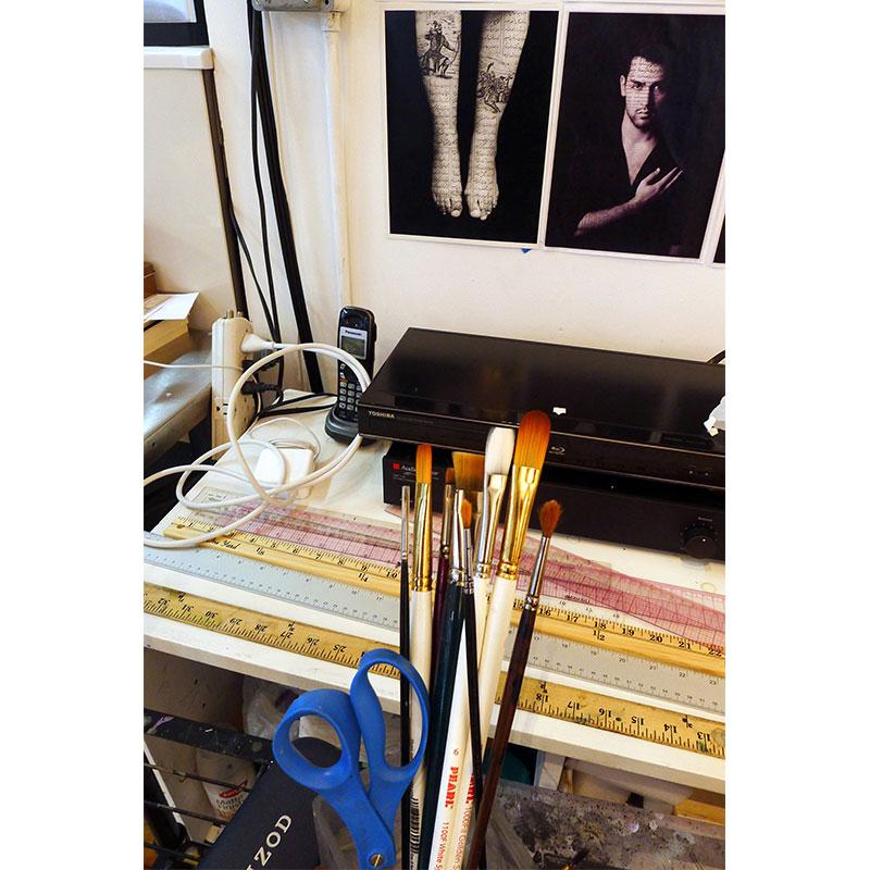 "Shirin Neshat's studio , 2013 pigment inkjet print 33 x 22"" image 44 x 32"" framed  Inquire >"