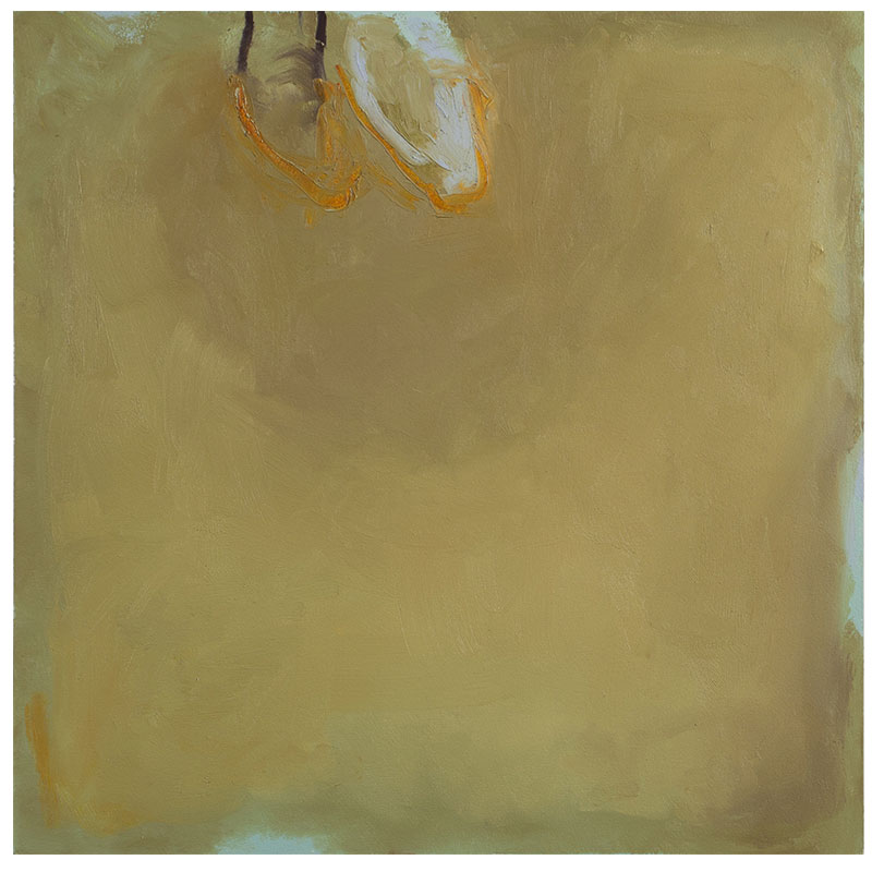"""Up , 2014 oil on Arches oil paper 20 x 20"""" 33 x 33"""" framed  Inquire >"""