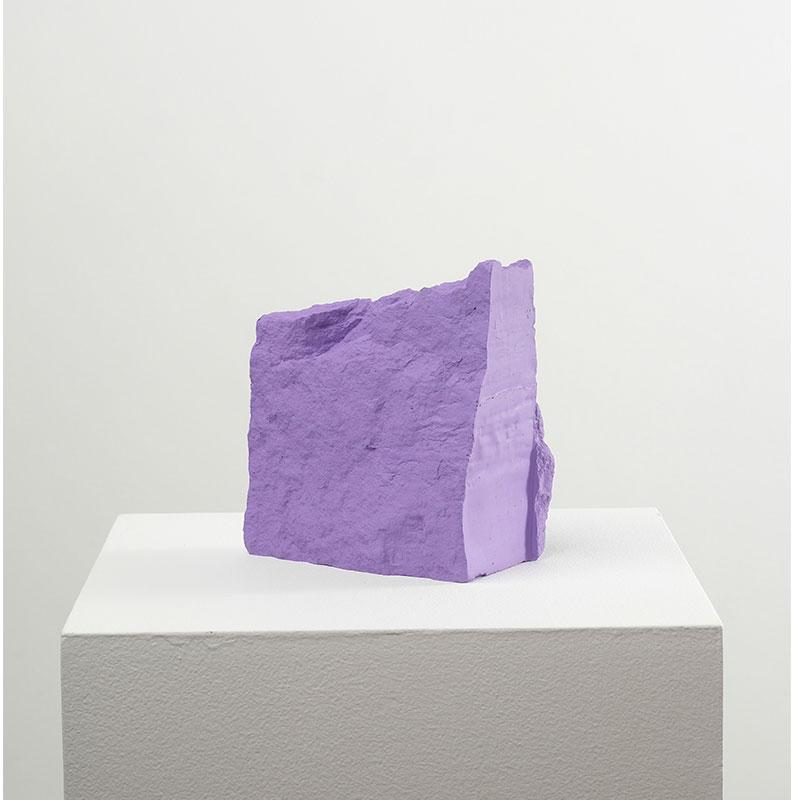 "Jeremy Hof   Warm Purple , 2016 acrylic paint 5.5 x 3.5 x 6.5""  Inquire >"