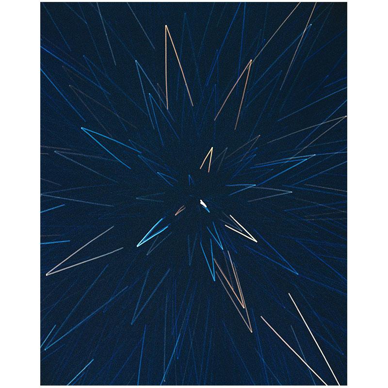 "James Nizam   Burst (Starlight drawing) , 2017 lightjet print 40 x 32"" Edition of 5  Inquire >"