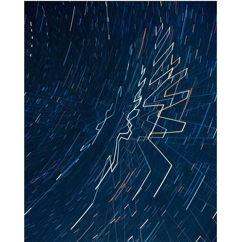 "James Nizam   Tract (Starlight drawing) , 2017 lightjet print 40 x 32"" Edition of 5  Inquire >"