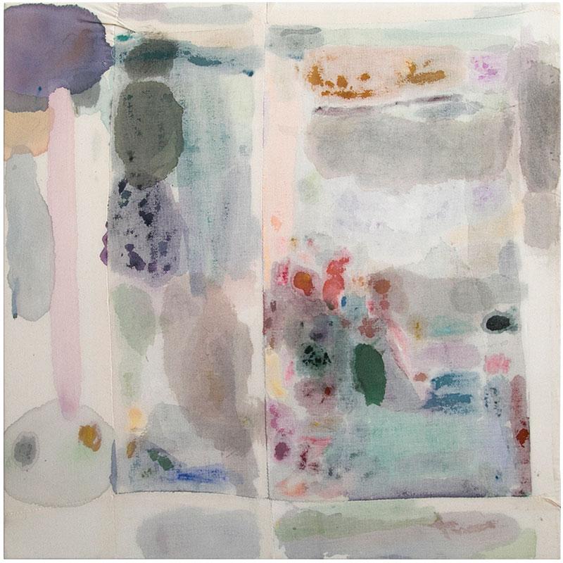 "Foliage , 2017 acrylic on artist hand sewn muslin 35 x 36""  Inquire >"