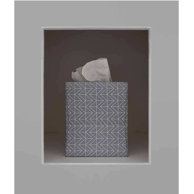 "Isaac Layman   Tissues , 2017 photographic construction, archival inkjet print 22 x 19"" Edition of 8, 2AP  Inquire >"