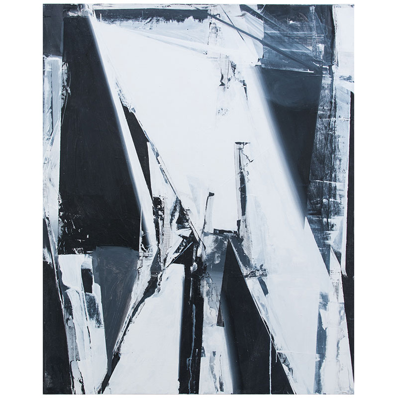 "Jason Vance Dickason   Untitled JVD 3 , 2017 oil on panel 60 x 48""  Inquire >"