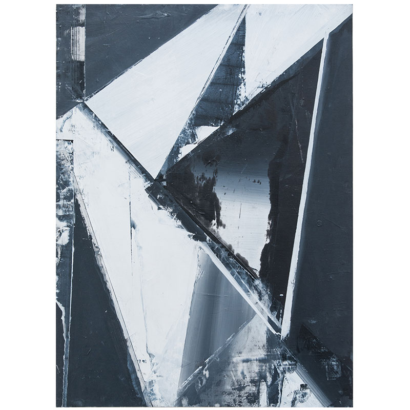 "Jason Vance Dickason   Untitled 5 , 2017 oil on paper on panel 30 x 22""  Inquire >"