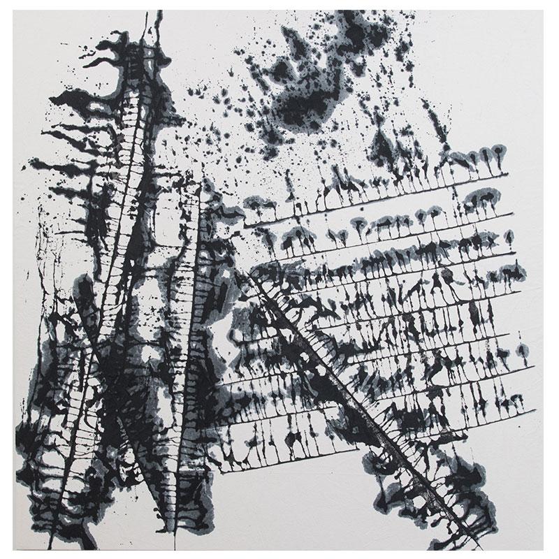 "John David Forsgren   8.22.17 , 2017 India ink on canvas 52 x 51""  Inquire >"
