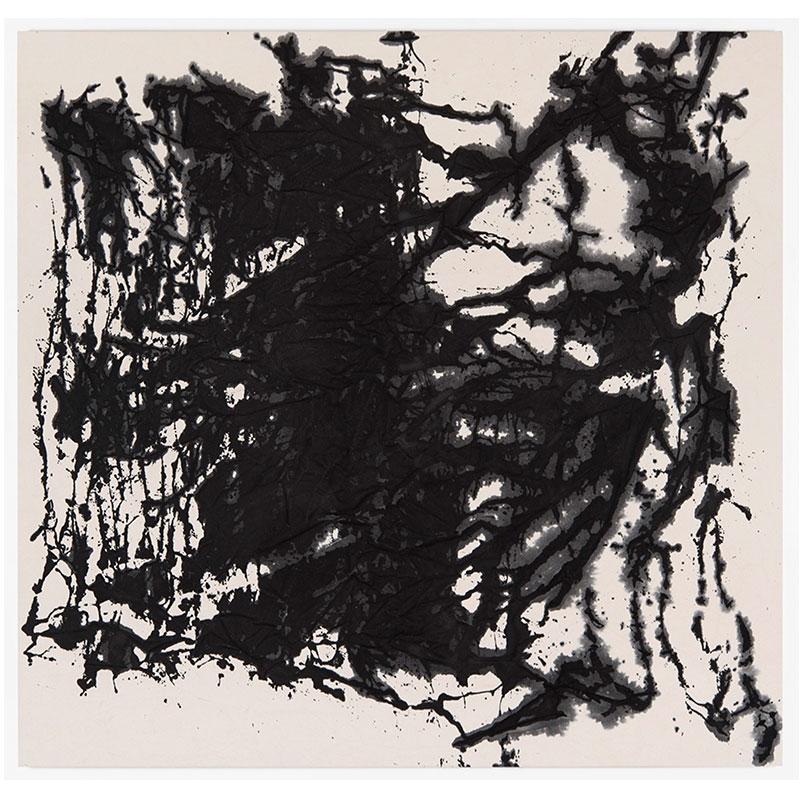 "John David Forsgren   8.24.17 , 2017 India ink on canvas 66 x 69""  Inquire >"