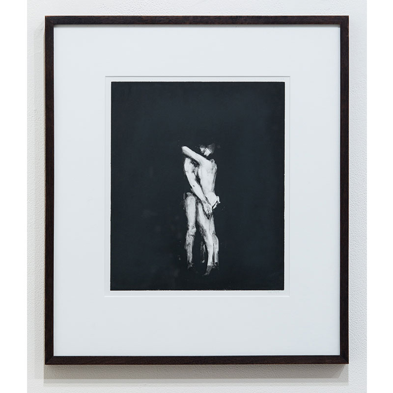 """Stephen Hayes   2 Figures Days of Love , 1993 monotype on paper 11.75 x 9.75"""" paper 17.75 x 19.25"""" framed  Inquire >"""