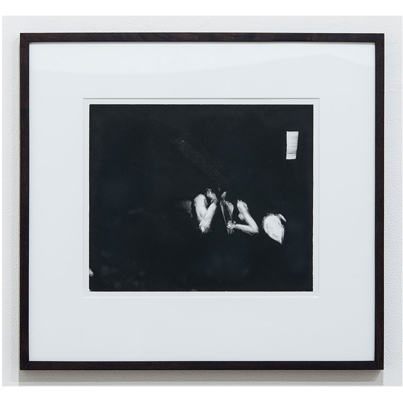 """Stephen Hayes   2 figures, small window  monotype on paper 10 x 12"""" paper 17 x 20"""" framed  Inquire >  SOLD"""