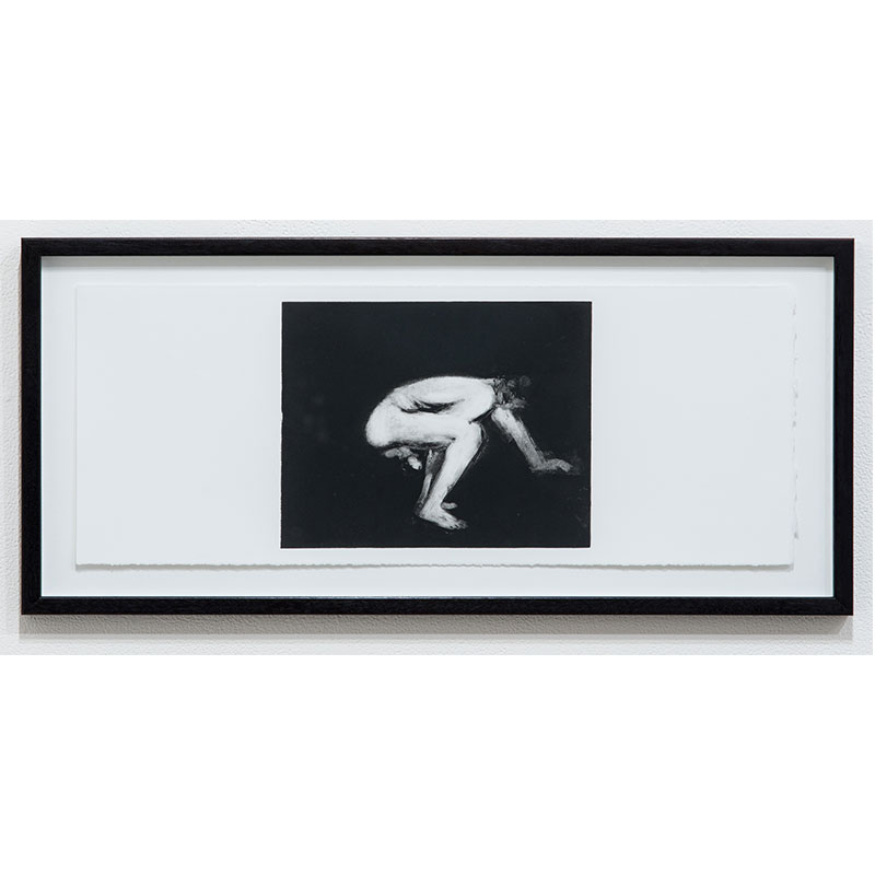 """Stephen Hayes   Man Series 2 , 1993 monotype 7.5 x 18.25"""" paper 10.25 x 21"""" framed  Inquire >"""