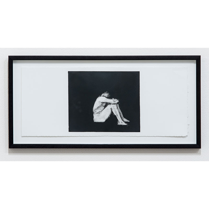 """Stephen Hayes   Man Series 7 , 1993 monotype 7.5 x 18.25"""" paper 10.25 x 21"""" framed  Inquire >"""
