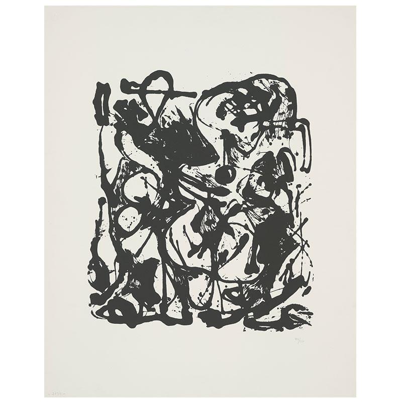 "Jackson Pollock   Untitled - JPo 2 , 1951 screenprint 29 x 23"" paper 33 x 25"" framed Edition of 50"