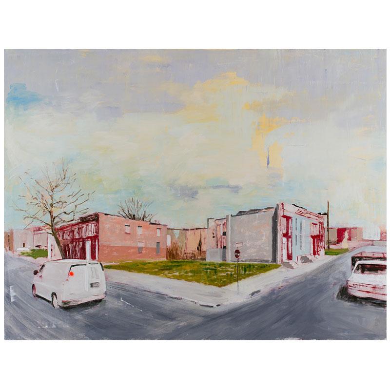 "Baltimore, MD 4-12-15 , 2017 oil on canvas 72 x 96""  Inquire >"