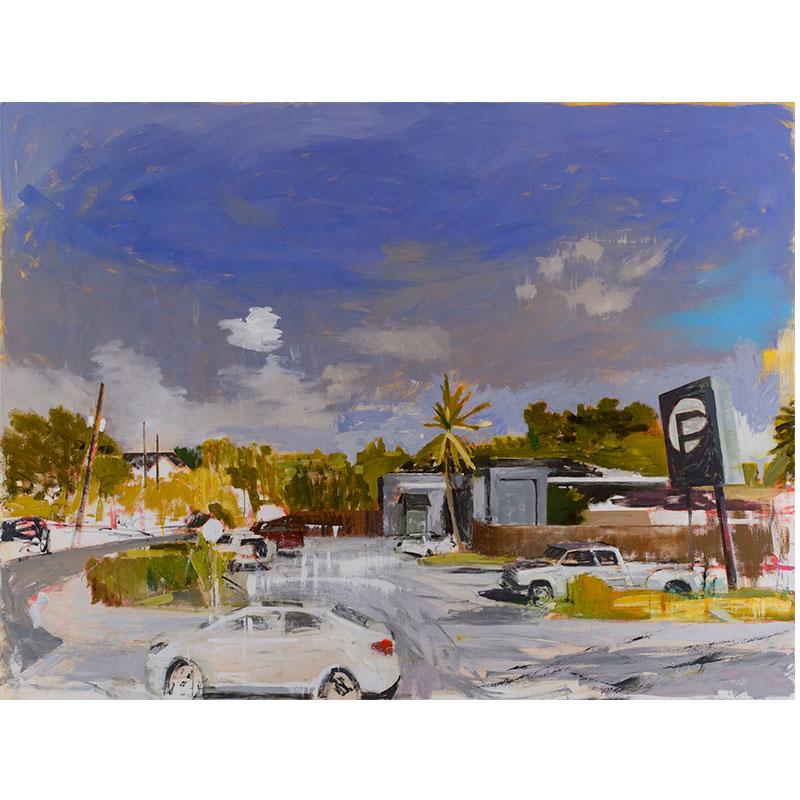 """Orlando, FL 6-12-16 , 2017 oil on canvas 72 x 96""""  Inquire >"""