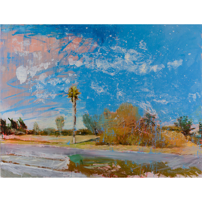 "San Bernardino, CA 4-11-17 , 2017 oil on canvas 72 x 96""  Inquire >"