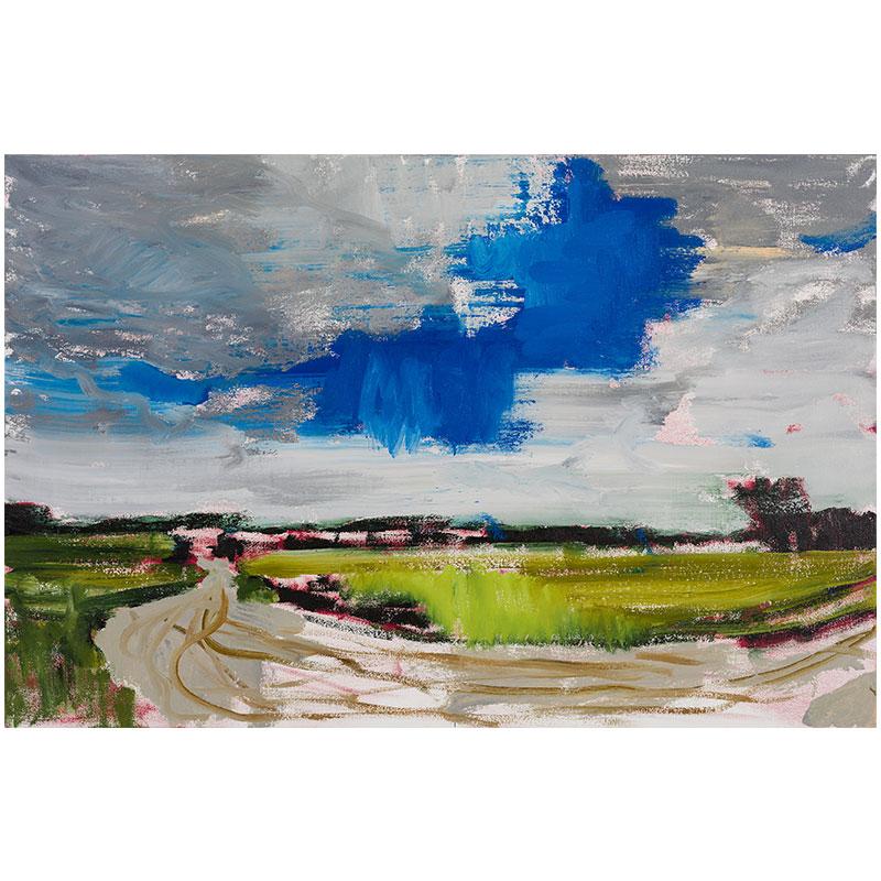 """Lodge Grass, MT 8-4-17 , 2017 oil on canvas 23 x 35""""  Inquire >"""