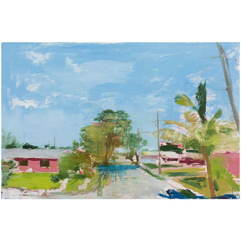 """Miami, FL 1-1-17 , 2017 oil on canvas 23 x 35""""  Inquire >"""