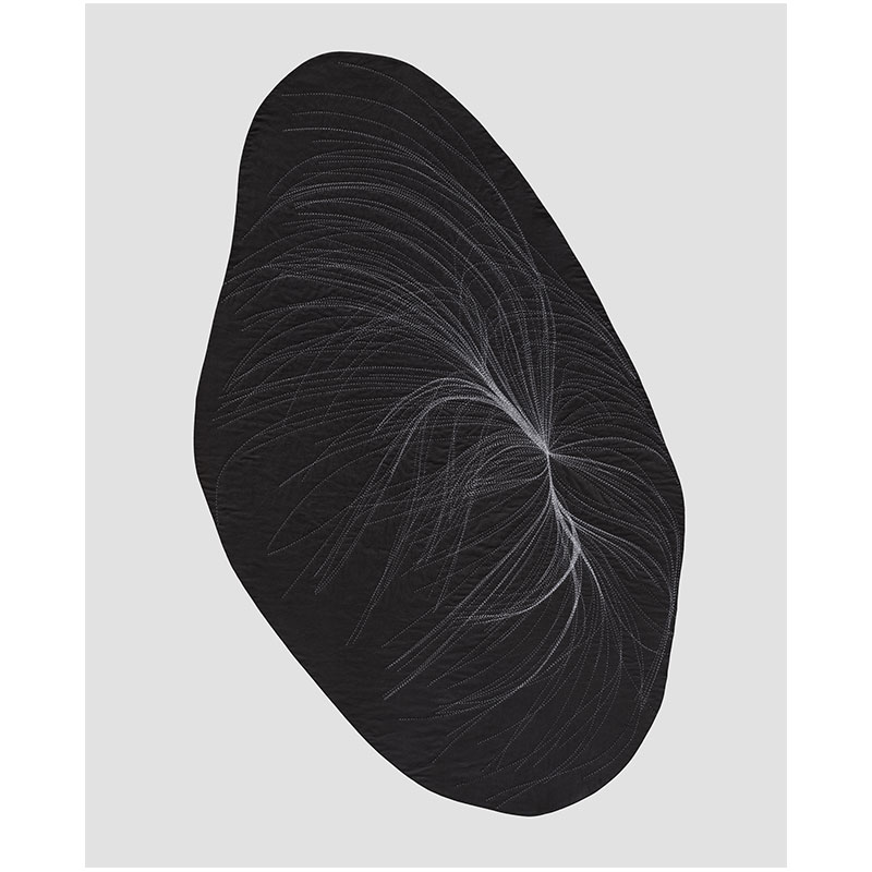 """View VI , 2017 hand-stitched cotton 67 x 39""""  Inquire >"""