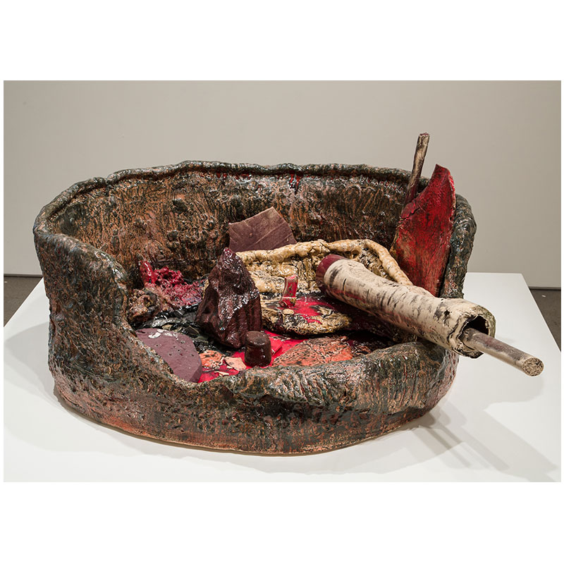 Sterling Ruby   Basin Theology/RACEMATE , 2014 ceramic 21 x 40.25 x 49.5""