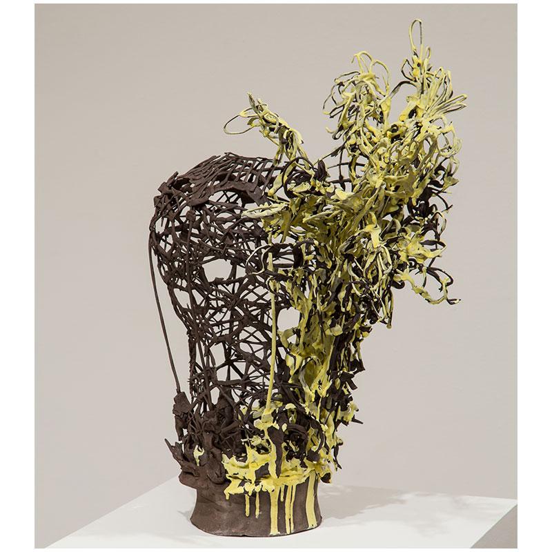 """Alwyn O'Brien   this decorative life , 2015 ceramic 20 x 14 x 12.5"""""""