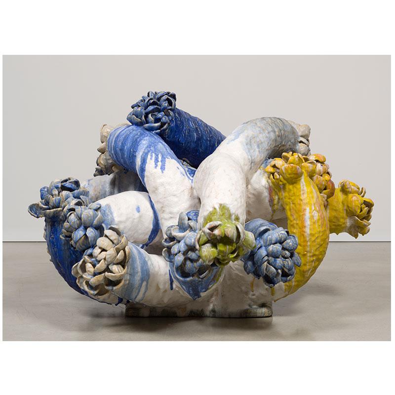 """Matt Wedel   Flower tree , 2014 ceramic 38.75 x 60.5 x 64"""""""