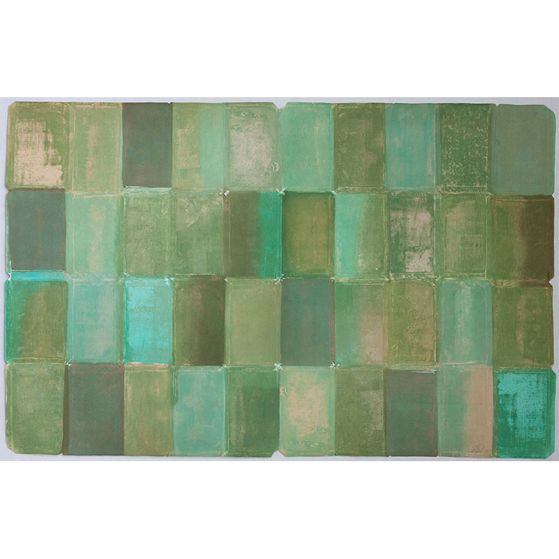 "Samuel Levi Jones   Sold Ya , 2017 flatbite and color aquatinit 47 x 63"" Edition of 25"