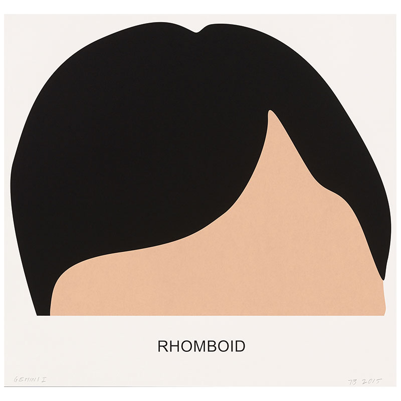 "Rhomboid , 2016 3 color screenprint 34.25 x 36"" paper 40.25 x 41.5"" framed Edition of 60"