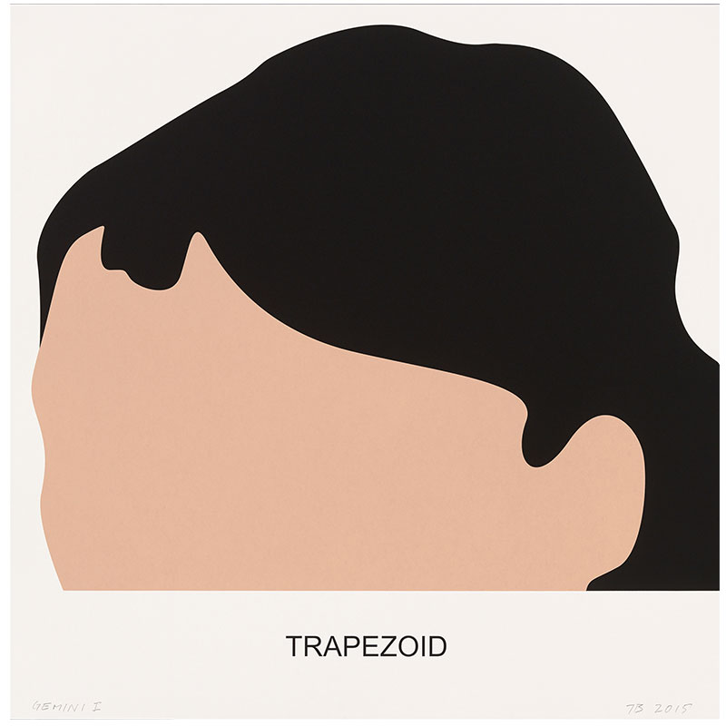"Trapezoid , 2016 3 color screenprint 36.25 x 36"" paper 42.5 x 41.5"" framed Edition of 60"