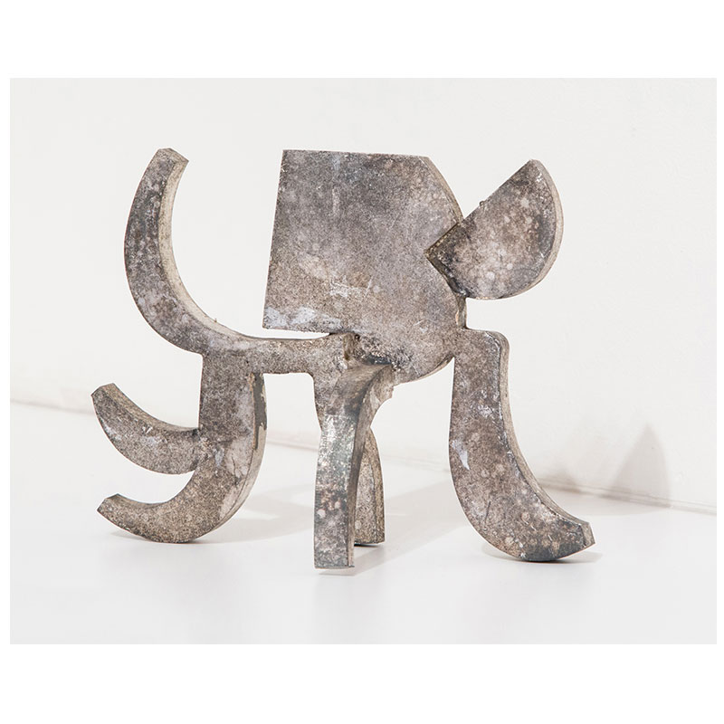 """Akbar's Elephant , 2017 steel with gold leaf 5.75 x 7.5 x 3"""" Edition of 3  Inquire >"""