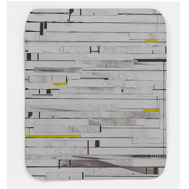 """Tablet , 2018 aluminum and oil  24.75 x 20.25 x 1.5""""  Inquire > SOLD"""
