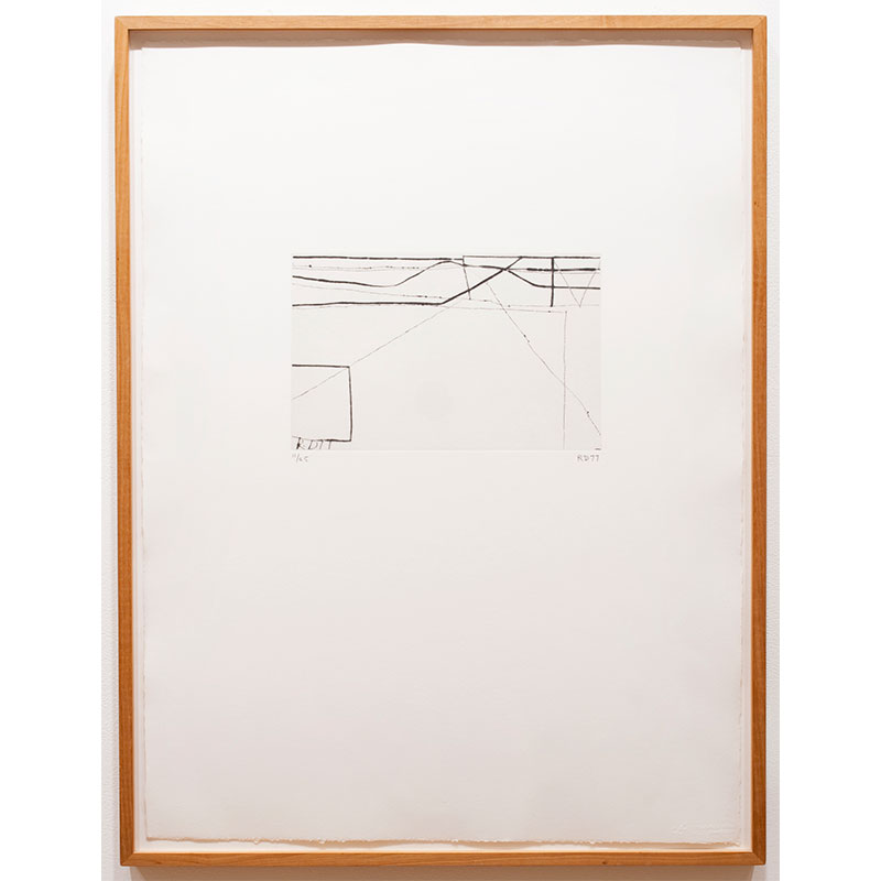 """No. 7 from Nine Drypoints & Etchings , 1977 etching 10.75 x 7.75"""" paper 31.5 x 24.5"""" framed Edition of 25"""