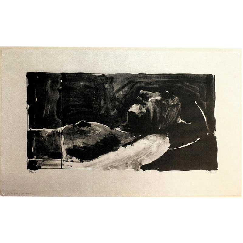 """Sleeping Woman , 1962 lithograph 14 x 23.25"""" image 19 x 28"""" paper Edition of 20"""