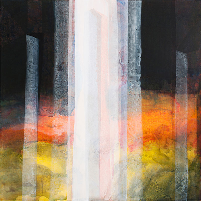 "Belvedere , 2011-2012 acrylic on canvas over panel 48 x 48""  Inquire >"