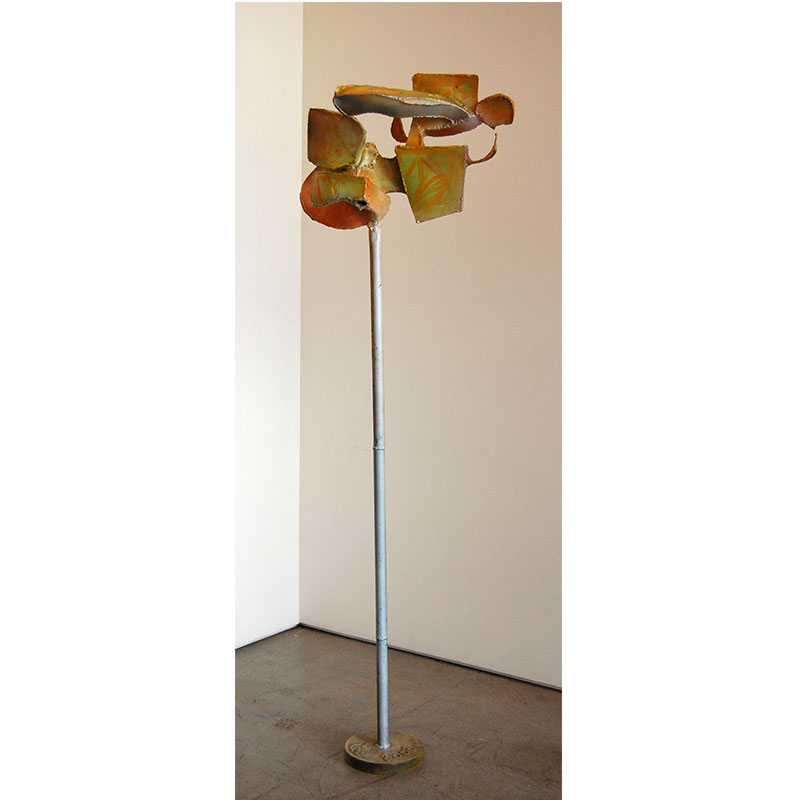 "Bird Series VI , 2003 painted, welded steel 64 x 21 x 12""  Inquire >"