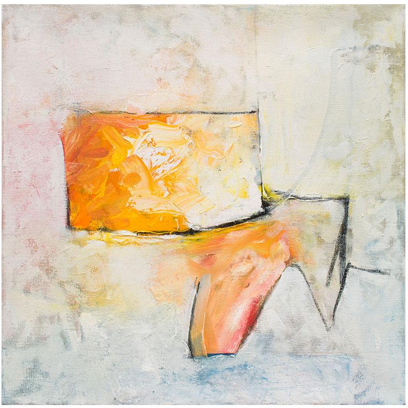 """Seven , 2014 oil on canvas 24 x 24""""  Inquire >"""