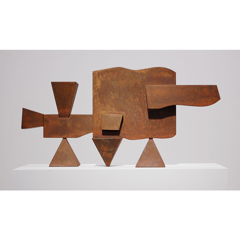 "Study for a Large Sculpture #7 , 2011 mild steel 18 x 32 x 7""  Inquire >"