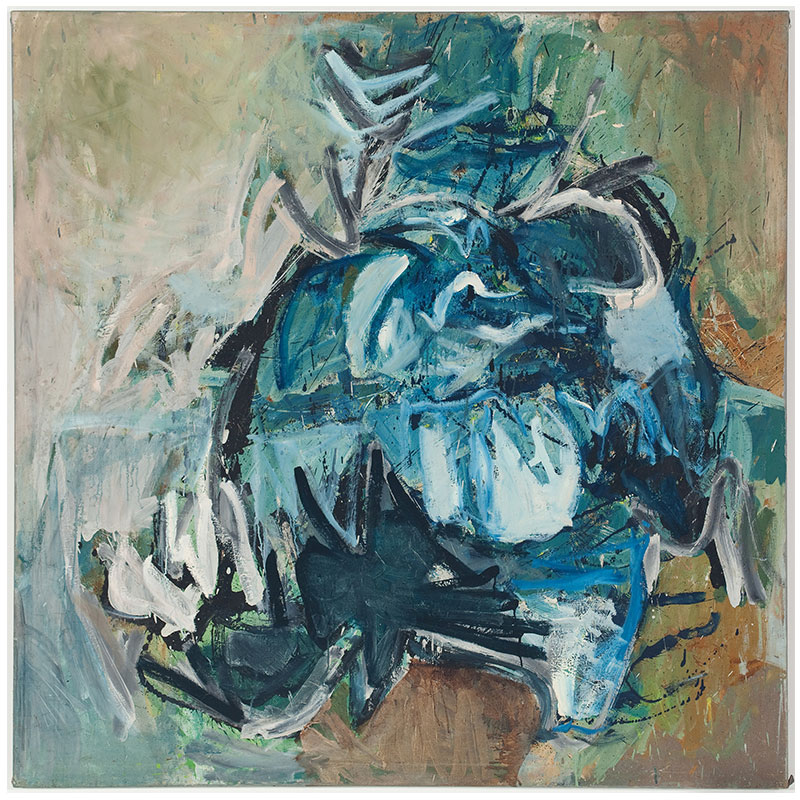 "Untitled - LK 728 , 1959 oil on canvas 54 x 54""  Inquire >"