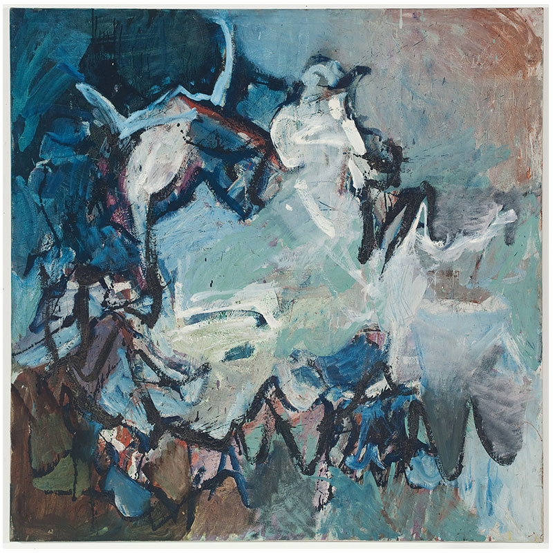 "Untitled - LK 729 , 1959 oil on canvas 54 x 54""  Inquire >"