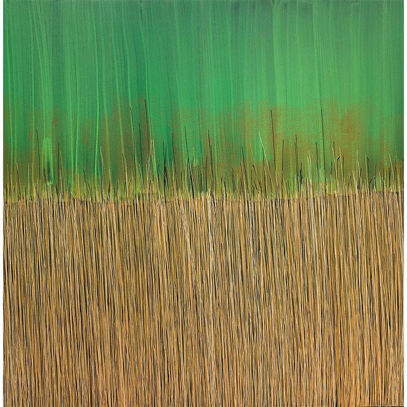 "Passages #128: Illumination , 2018 acrylic and Flashe on canvas 44 x 44""  Inquire >"