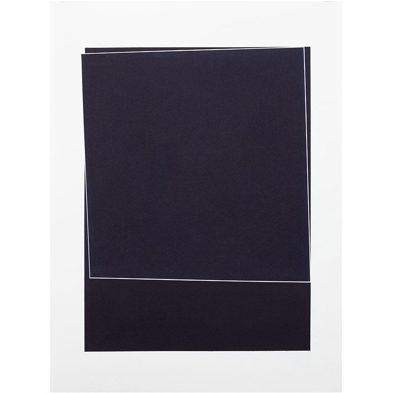 "Untitled, 2018-0901 , 2018 indigo pigment in wax on paper 30 x 22"" paper  Inquire >"