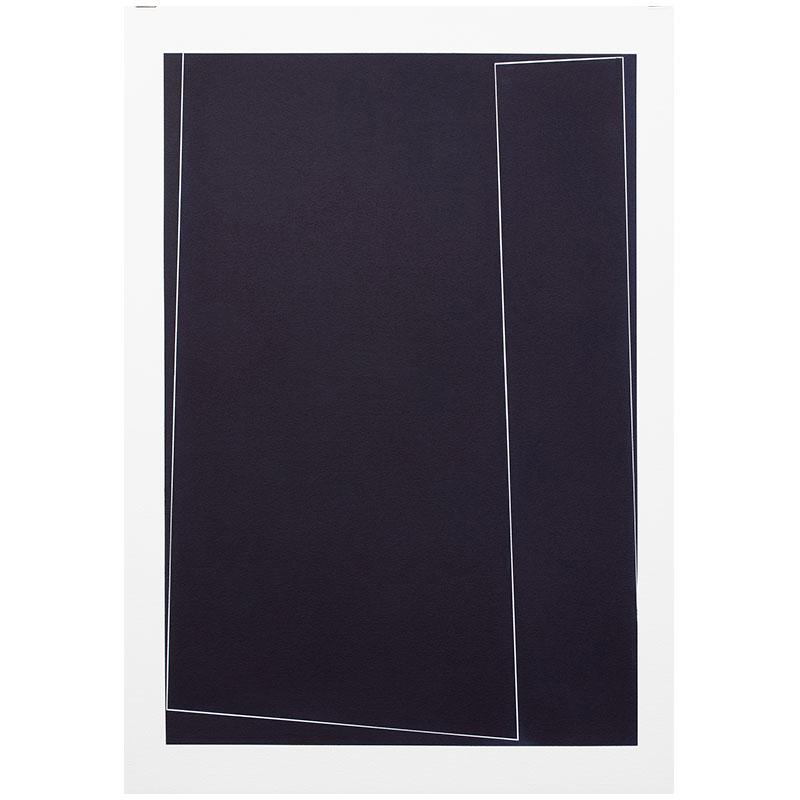 "Untitled, 2018-1016 , 2018 indigo pigment in wax on paper 41.5 x 29.5"" paper  Inquire >"