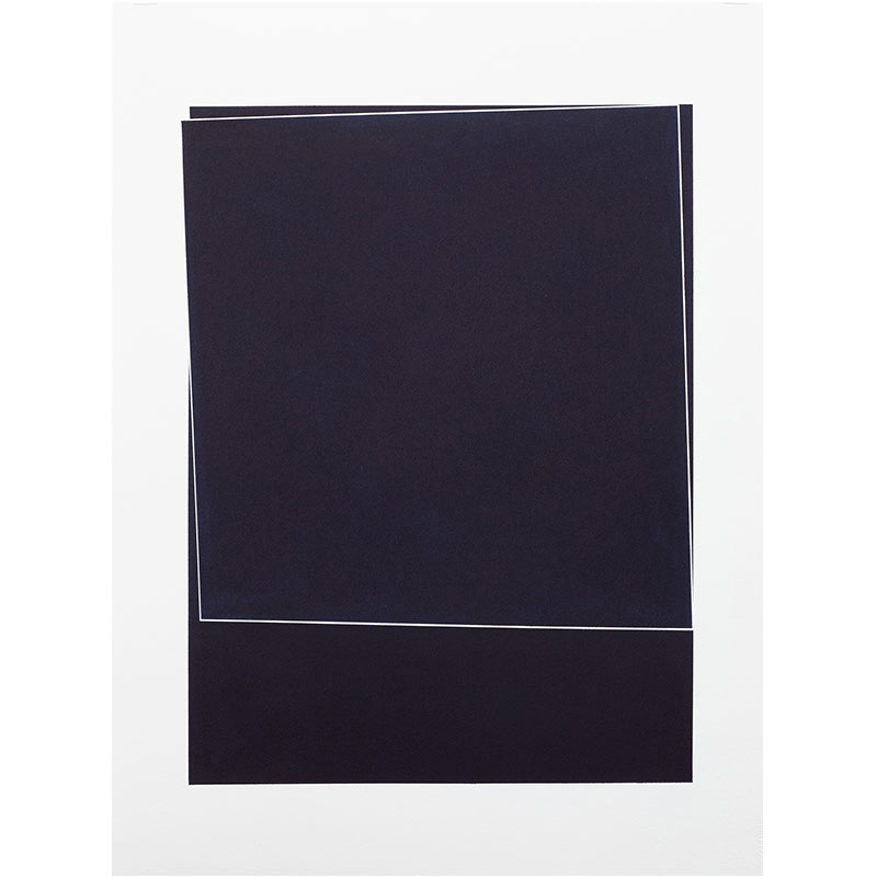 "Untitled, 2018-0901 , 2018 indigo pigment in wax on paper 30 x 22"" paper  Inquire >"