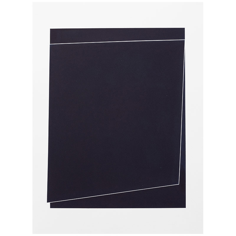 "Untitled, 2018-0902 , 2018 indigo pigment in wax on paper 30 x 22"" paper  Inquire >"