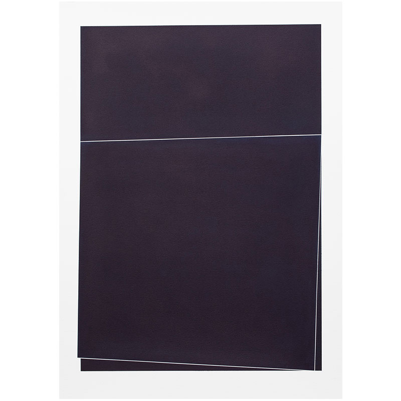 "Untitled, 2018-1009 , 2018 indigo pigment in wax on paper 41.5 x 29.5"" paper  Inquire >"
