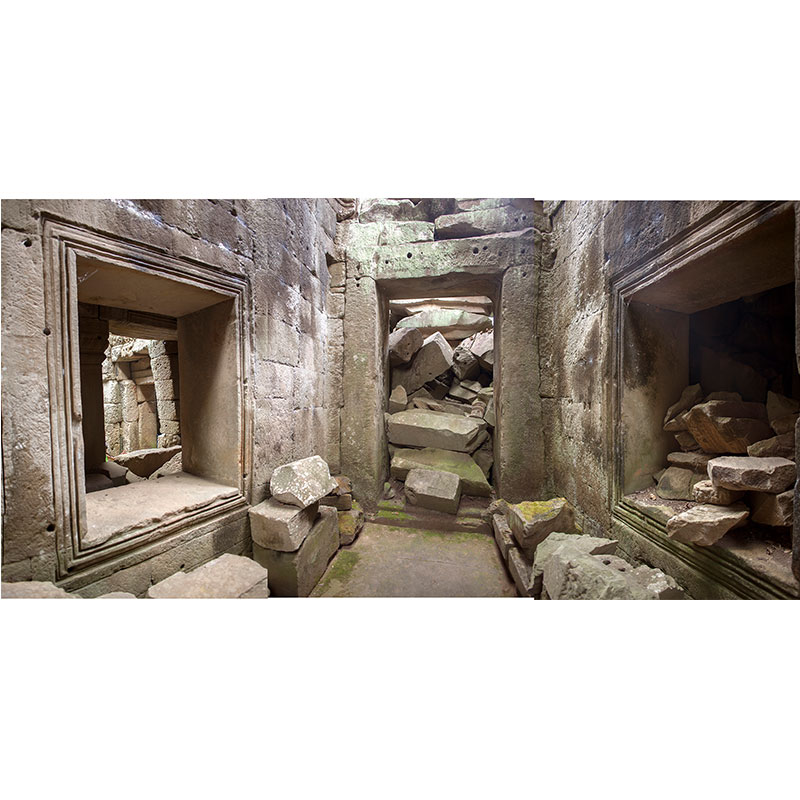 """Angkor ll , 2018 assembled archival inkjet print 18 x 36"""" image  Inquire >"""