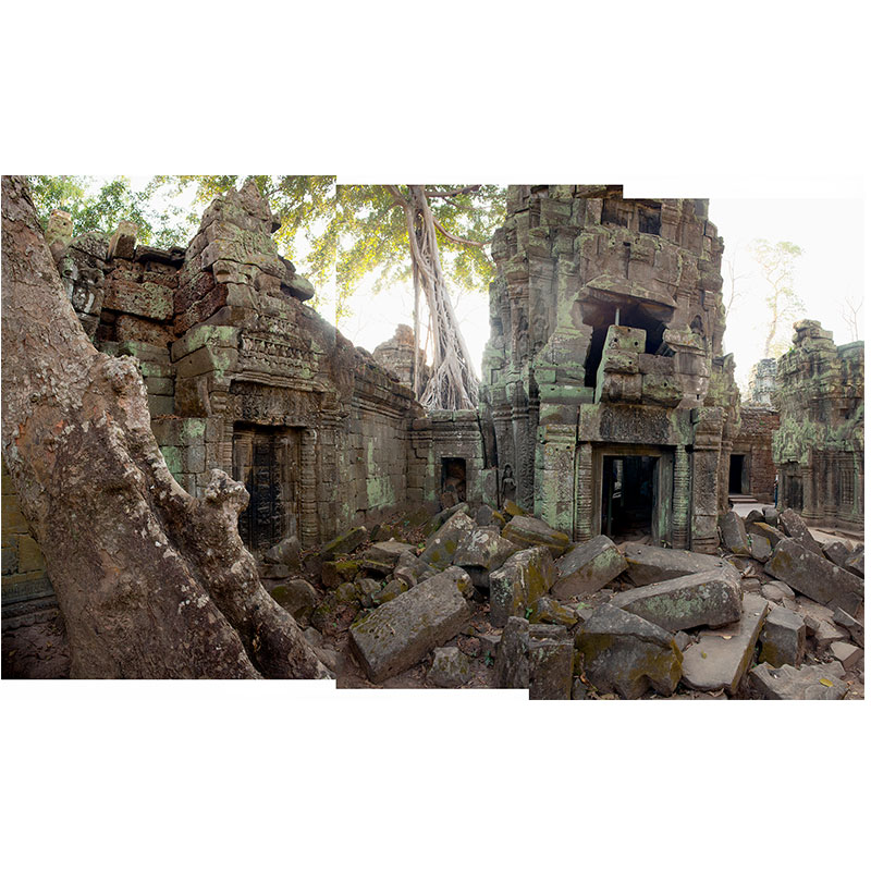 """Angkor lll , 2018 assembled archival inkjet print 19 x 31"""" image  Inquire >"""