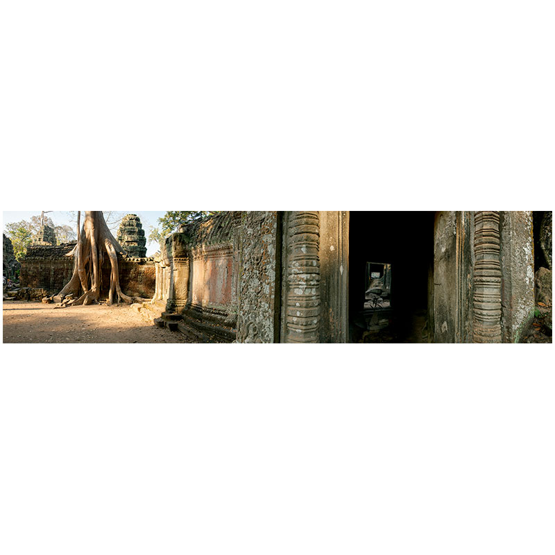 """Angkor VIII , 2018 assembled archival inkjet print 12 x 50"""" image  Inquire >"""