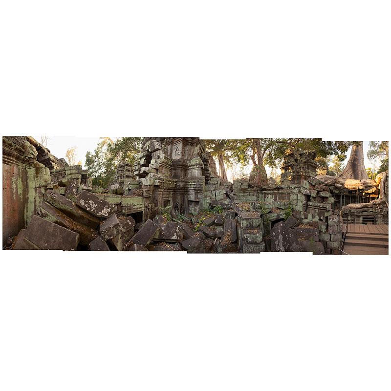 "Angkor IX , 2018 assembled archival inkjet print 19 x 61"" image  Inquire >"